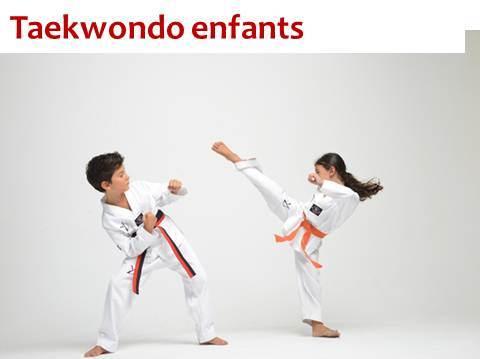 Taekwondo enfants